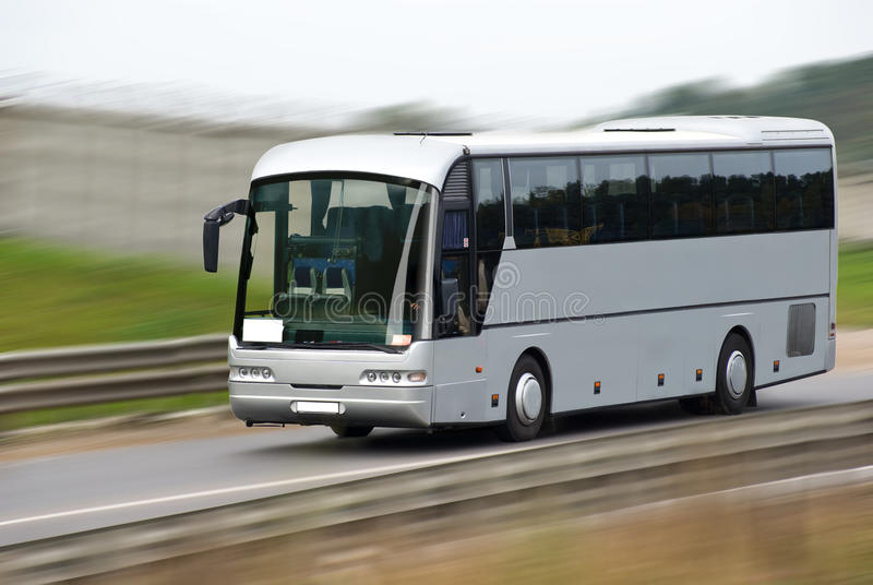 autobusowy szybki poruszający turysta obrazy royalty free