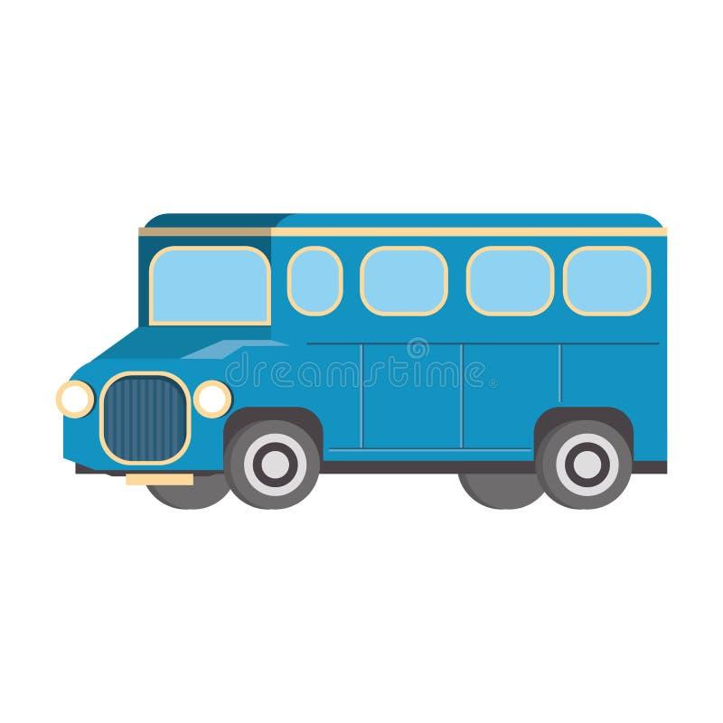 Autobusowy transportu publicznego pojazd odizolowywający royalty ilustracja