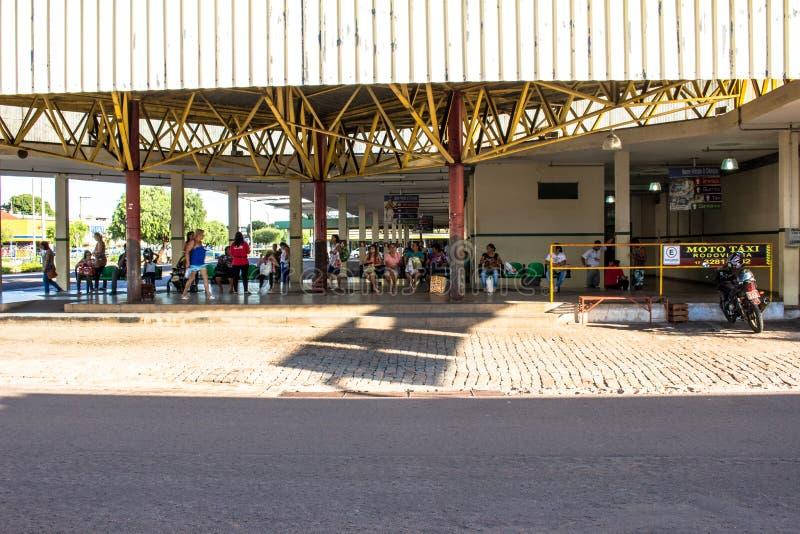 Autobusstation der Stadt von Olimpia, in Sao Paulo lizenzfreies stockfoto