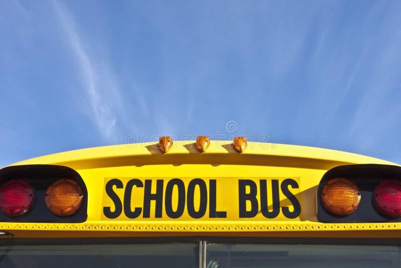 autobusu świateł ocechowań szkoły sygnał obraz stock