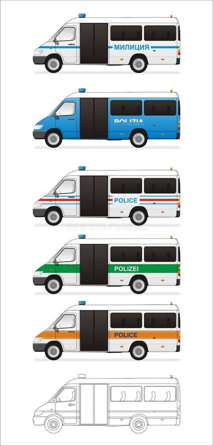 autobusu europejczyka polici set ilustracja wektor