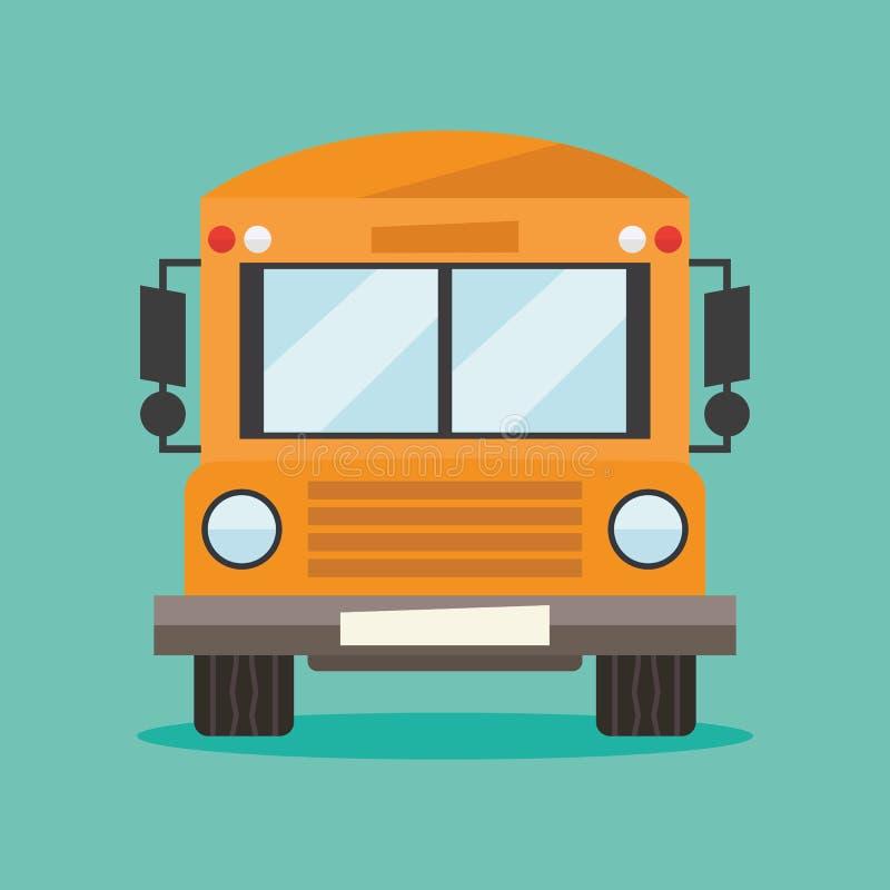 Autobusu szkolnego kierowcy wektoru ilustracja royalty ilustracja