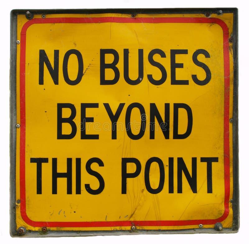 autobusy żadny znak obraz stock