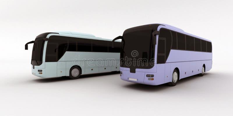 autobusy dwa ilustracja wektor