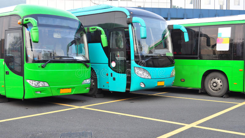 autobusy nowi obraz royalty free