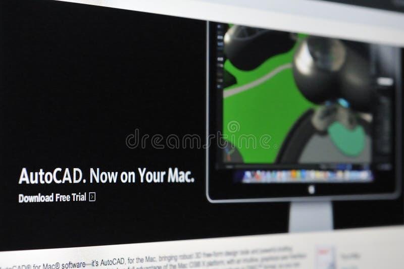 Autocad para o Mac imagem de stock