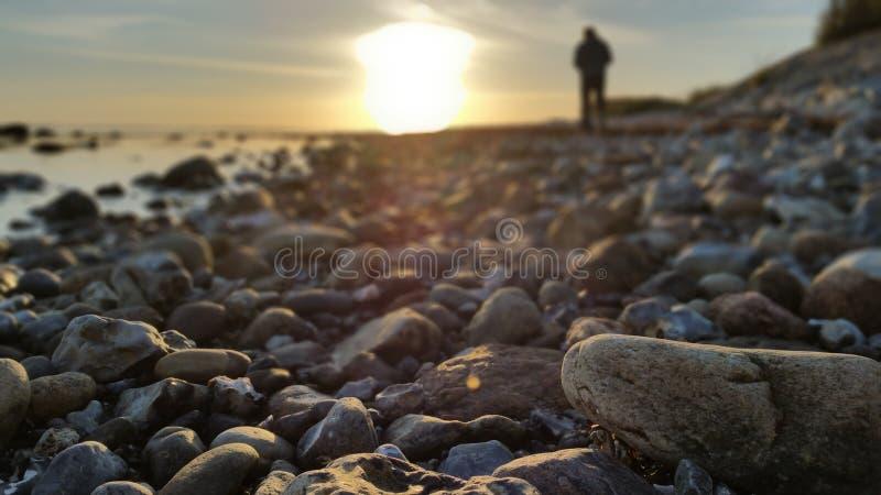 Autocamper sur la plage image libre de droits