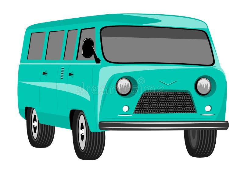 Autocaravana retra del viaje del vintage stock de ilustración
