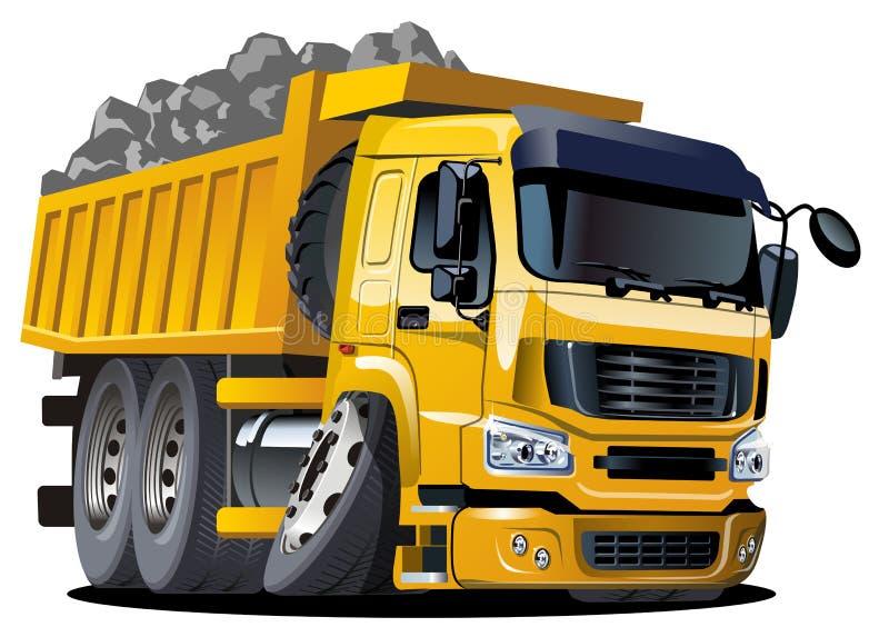 Autocarro con cassone ribaltabile del fumetto illustrazione di stock