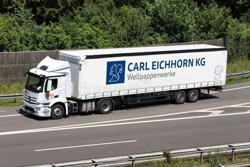 Autocarro con rimorchio Carl Eichhorn immagine stock libera da diritti