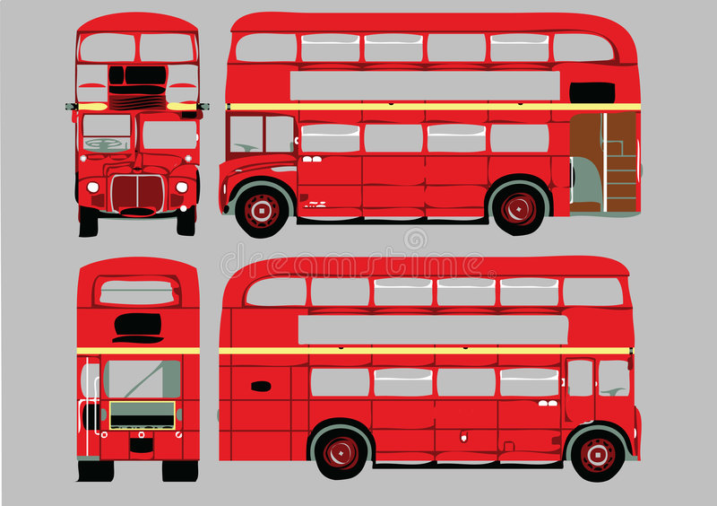 Autocarro de dois andares ilustração stock