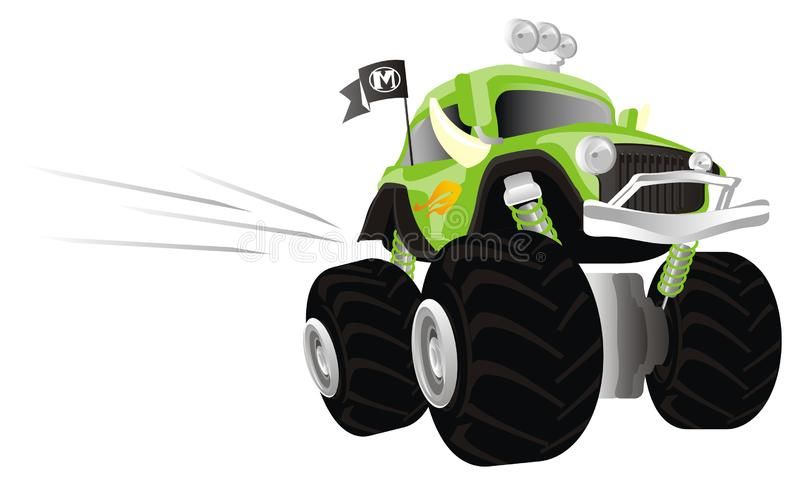 Autocarro di Monster in movimento illustrazione vettoriale