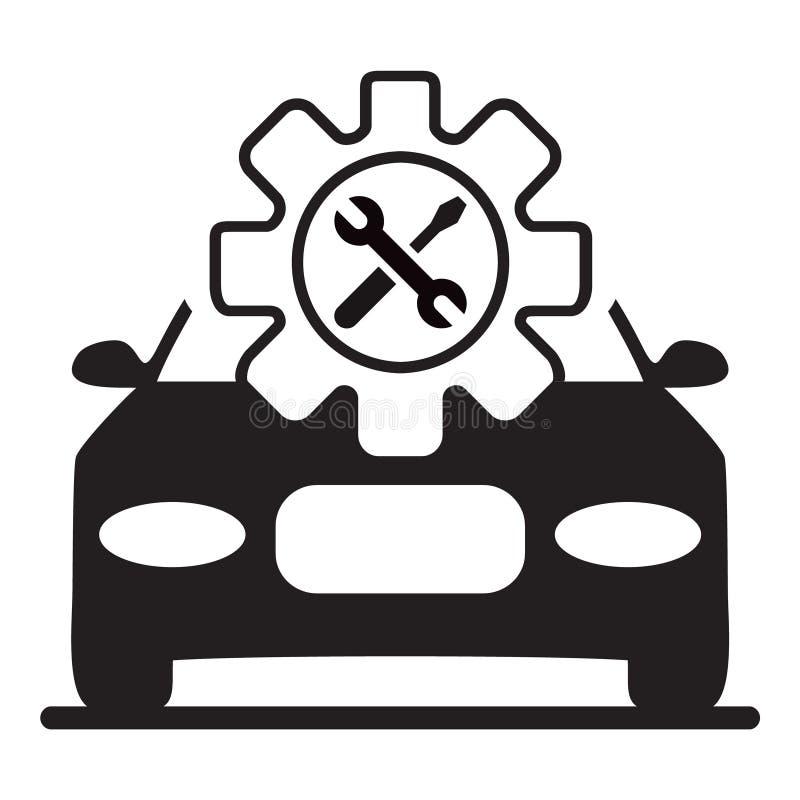 Autocentrum - Autoreparatie royalty-vrije illustratie
