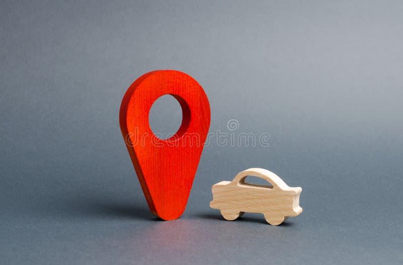Autocijfer en een rode plaatsteller De Zoekenauto's, kopen of verkopen Het contacteren van de politie om de gewilde gestolen auto royalty-vrije stock fotografie
