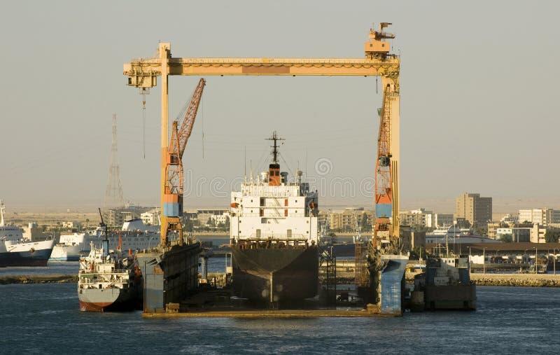 Autocisterna in cantiere navale fotografia stock libera da diritti