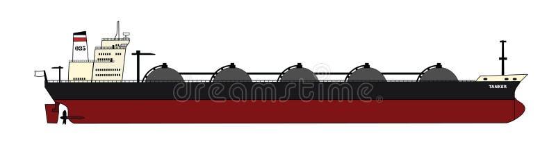 Autocisterna del gas illustrazione di stock