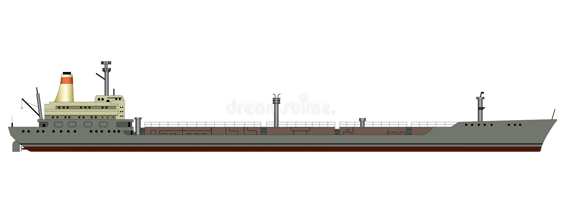 Autocisterna della nave illustrazione vettoriale