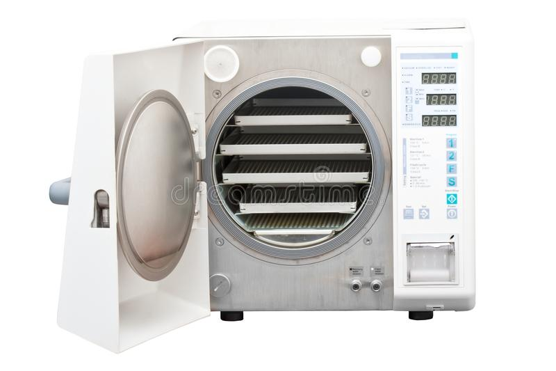 Autoclave, steriliser used in dentistry royalty free stock photos