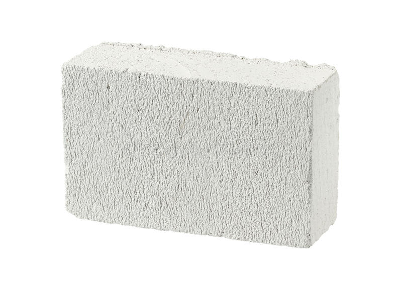 Autoclaved aerated concrete block. (foamed lightweight concrete) isolated on white background royalty free stock photos