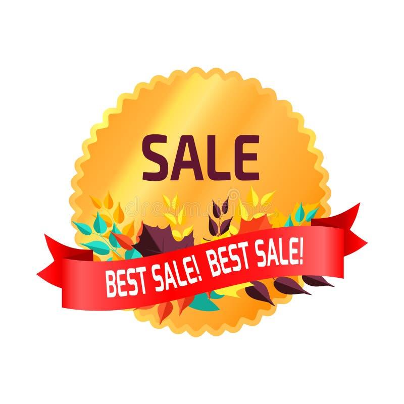 Autocollant circulaire de la meilleure vente sur l'illustration de vecteur illustration de vecteur