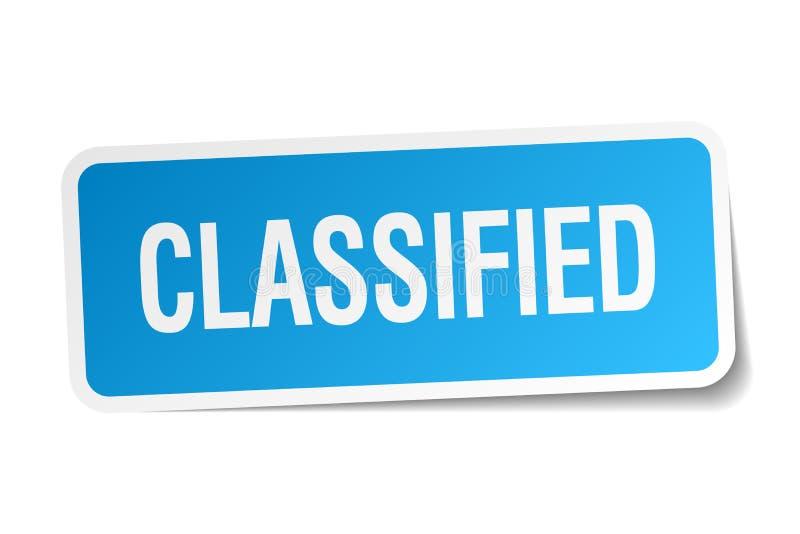 Autocollant classifié illustration libre de droits