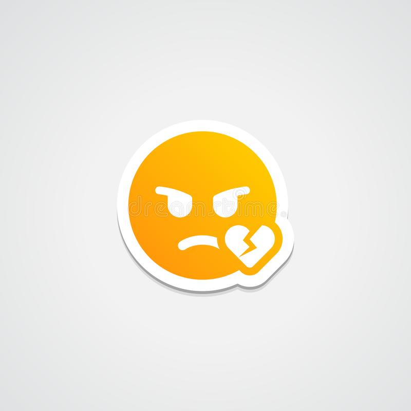 Autocollant d'Emoji de immense chagrin illustration libre de droits