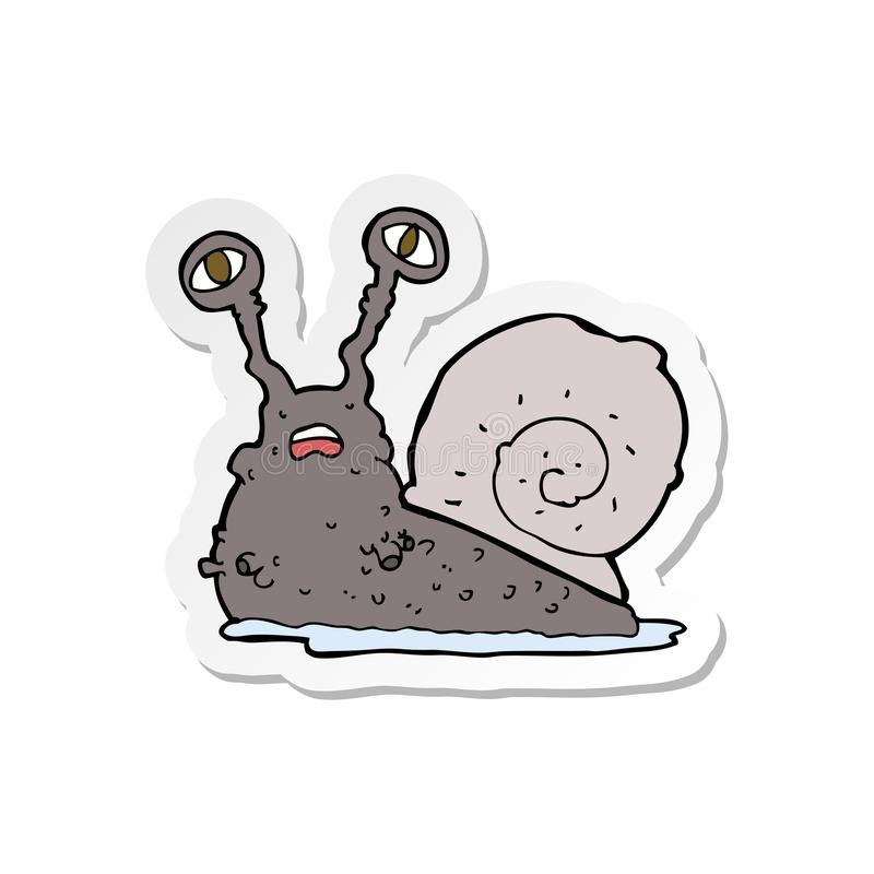 autocollant d'un escargot brut de bande dessin?e illustration stock