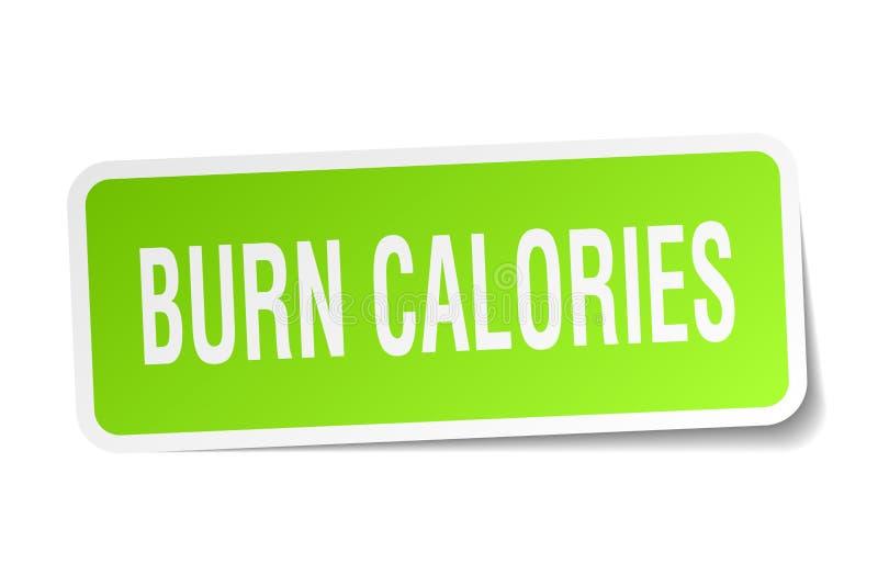autocollant de calories de brûlure illustration libre de droits