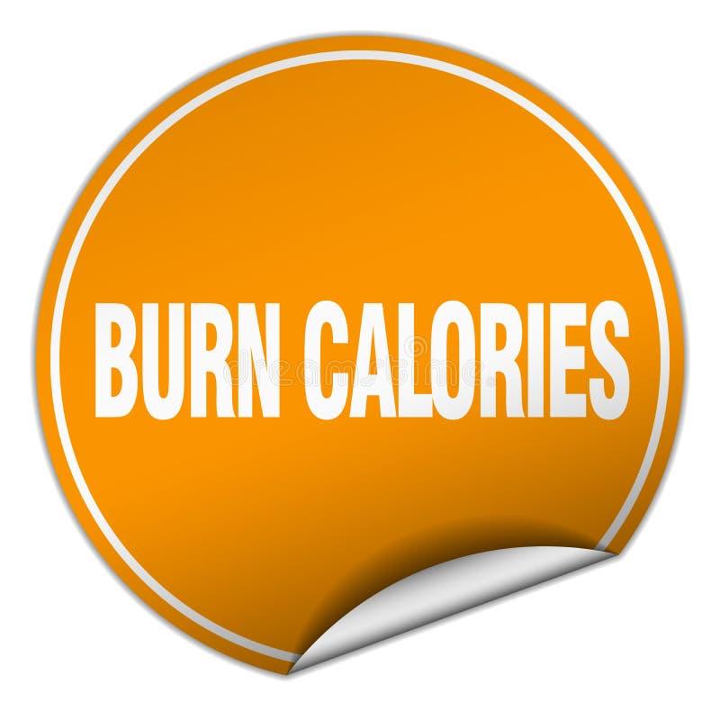 autocollant de calories de brûlure illustration de vecteur