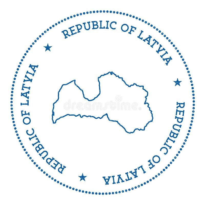 Autocollant de carte de vecteur de la Lettonie illustration de vecteur