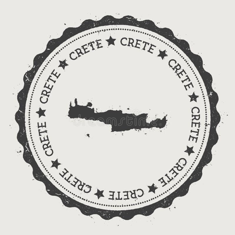 Autocollant de Crète illustration stock