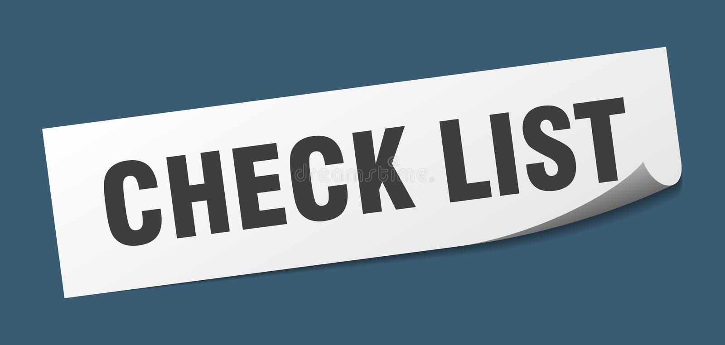 autocollant de liste de contr?le illustration libre de droits
