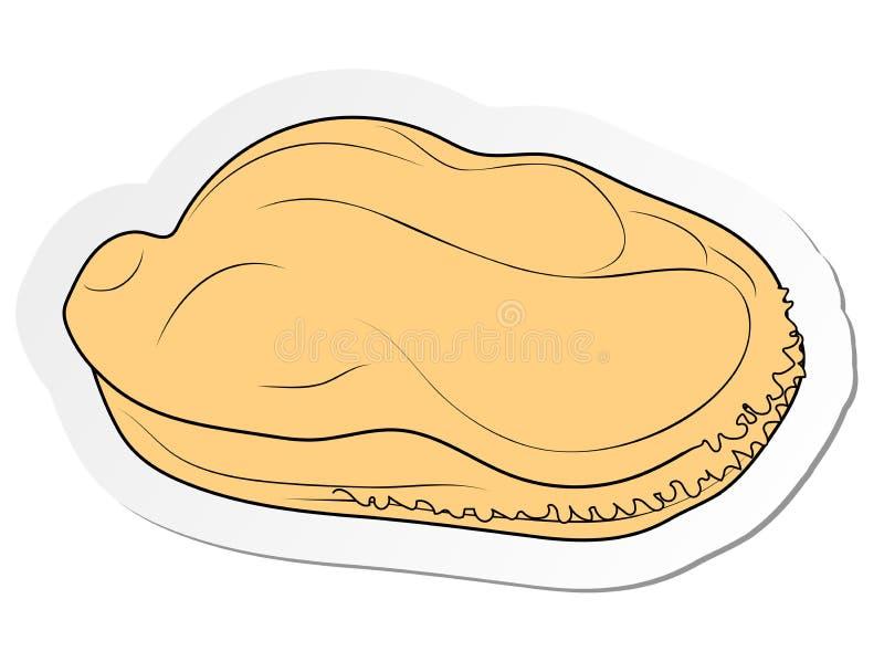 autocollant de moule bouillie sans coquille dans le style plat de bande dessinée d'isolement sur le fond blanc illustration stock