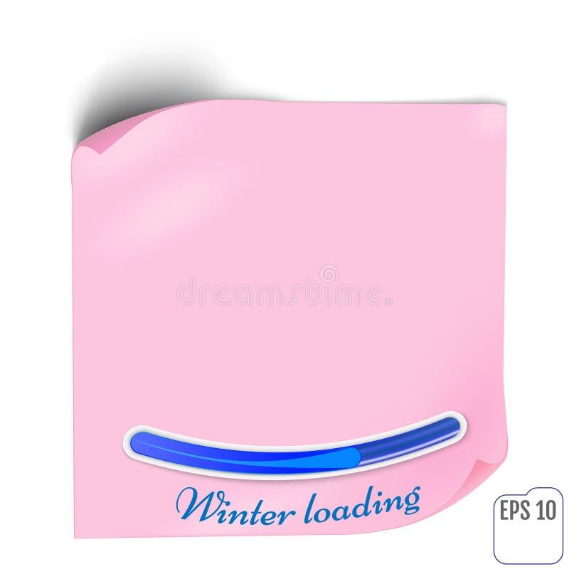 Autocollant de papier rose avec l'ombre Bannière de Web ou label vide o de boucle illustration de vecteur
