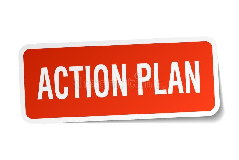 autocollant de plan d'action illustration de vecteur