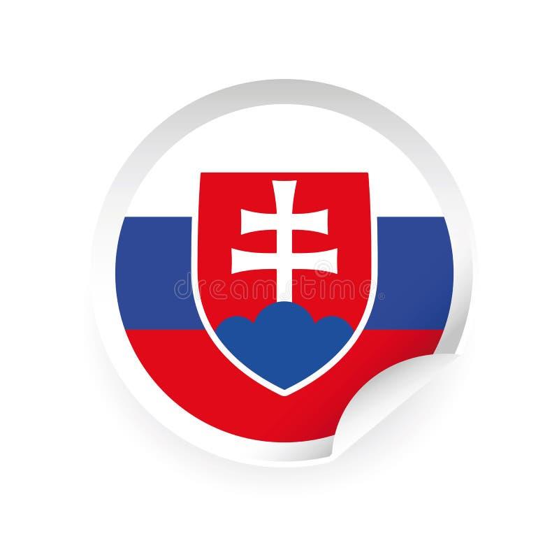 Autocollant de symbole de drapeau de la Slovaquie illustration stock
