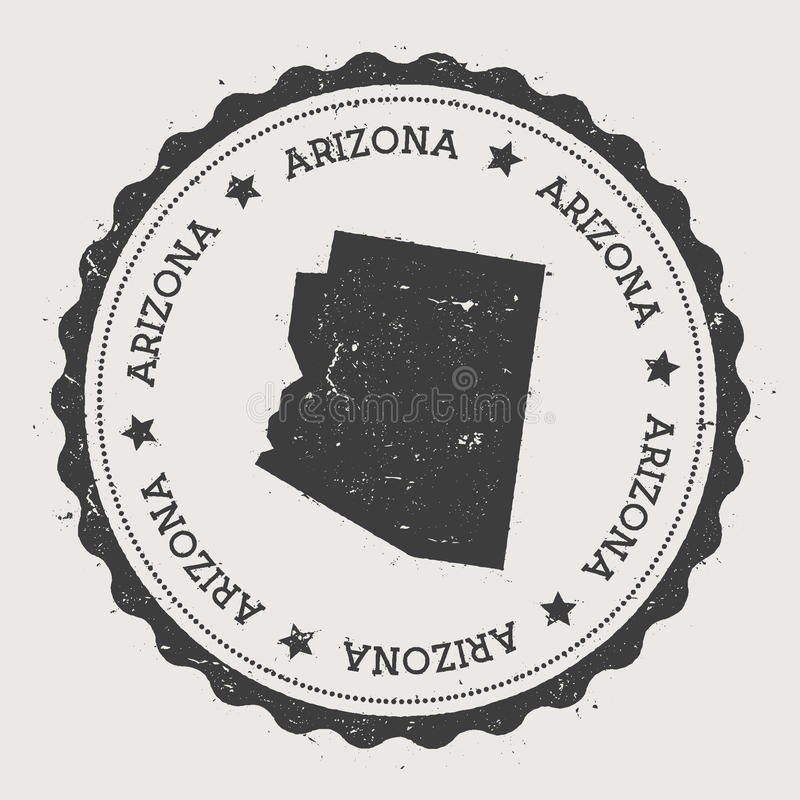 Autocollant de vecteur de l'Arizona illustration de vecteur