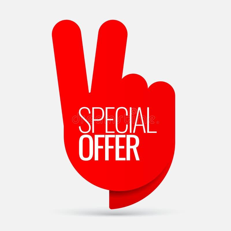 Autocollant de vente des offres spéciales illustration de vecteur
