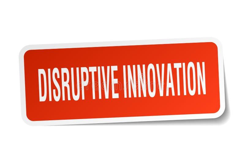 autocollant disruptif d'innovation illustration libre de droits