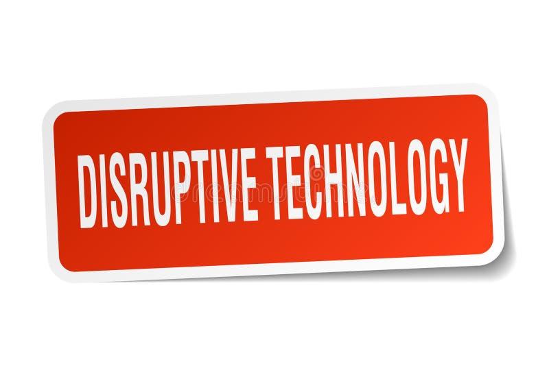 autocollant disruptif de technologie illustration stock