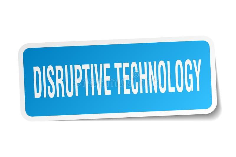 autocollant disruptif de technologie illustration de vecteur
