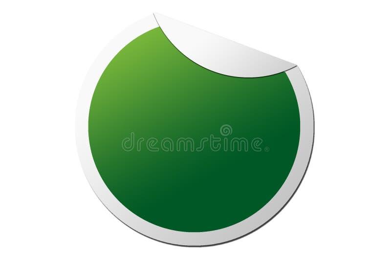 Autocollant numérique vert de forme circulaire pour des notes illustration de vecteur