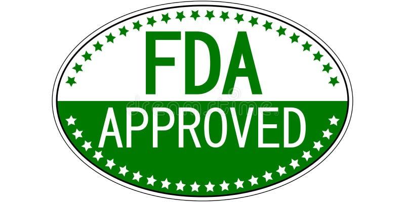 Autocollant ovale approuvé par le FDA illustration libre de droits