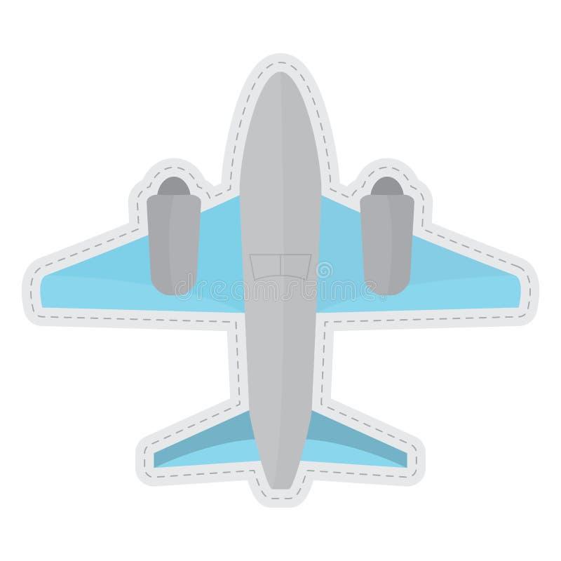 Autocollant pointillé par avion illustration de vecteur