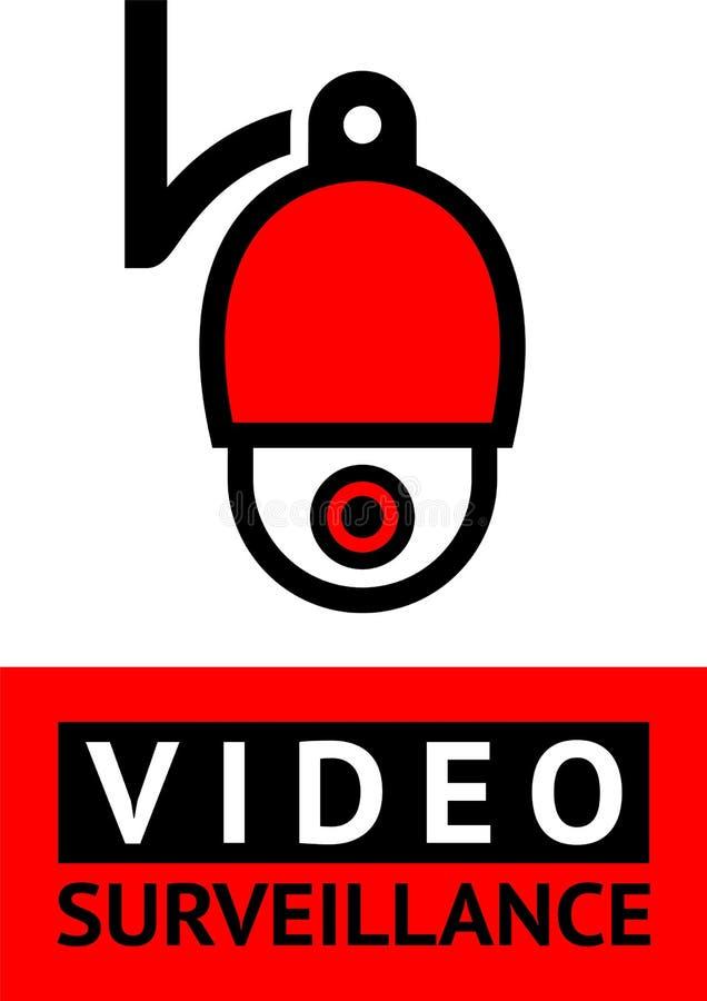 Autocollant visuel de symbole de télévision en circuit fermé d'avis pour la copie illustration de vecteur