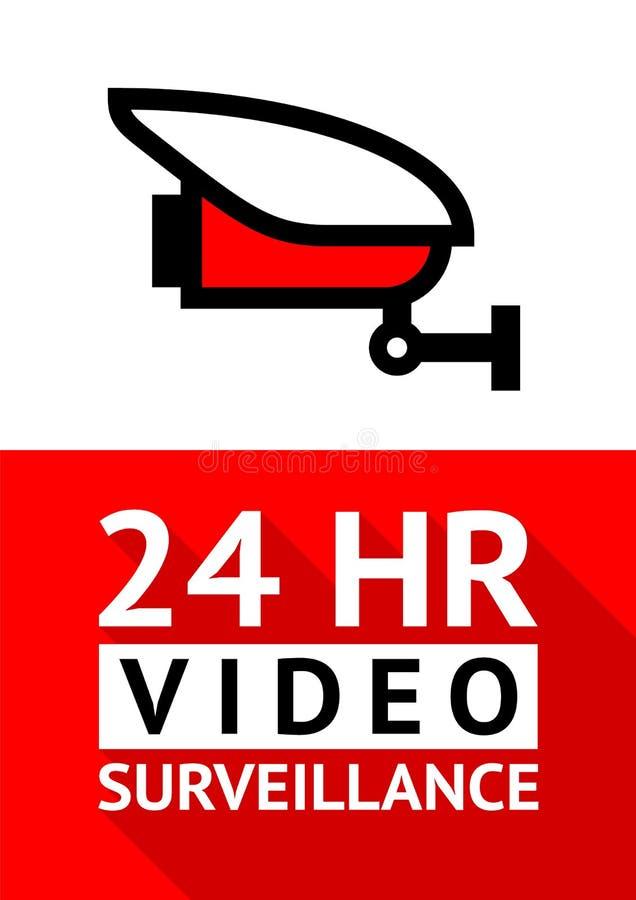 Autocollant visuel de symbole de télévision en circuit fermé d'avis pour la copie illustration libre de droits