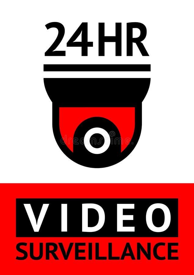 Autocollant visuel de symbole de télévision en circuit fermé de surveillance d'avis pour la copie illustration libre de droits