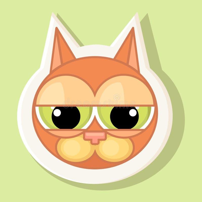 Autocollant volumétrique avec le chat représenté Émotion de culpabilité illustration libre de droits