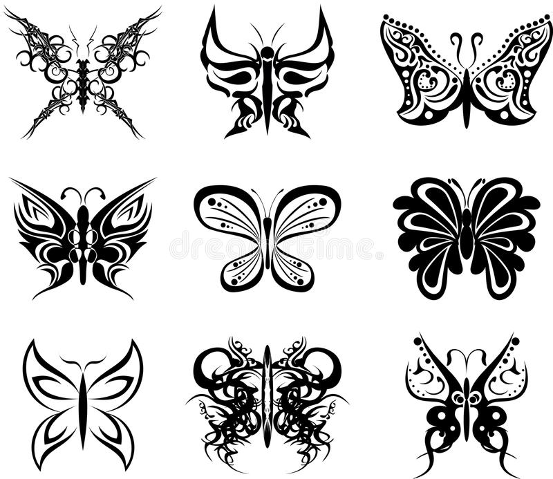 Download Autocollants Réglés De Paquet De Tatouage De Papillon Illustration de Vecteur - Illustration du insecte, conception: 45359644