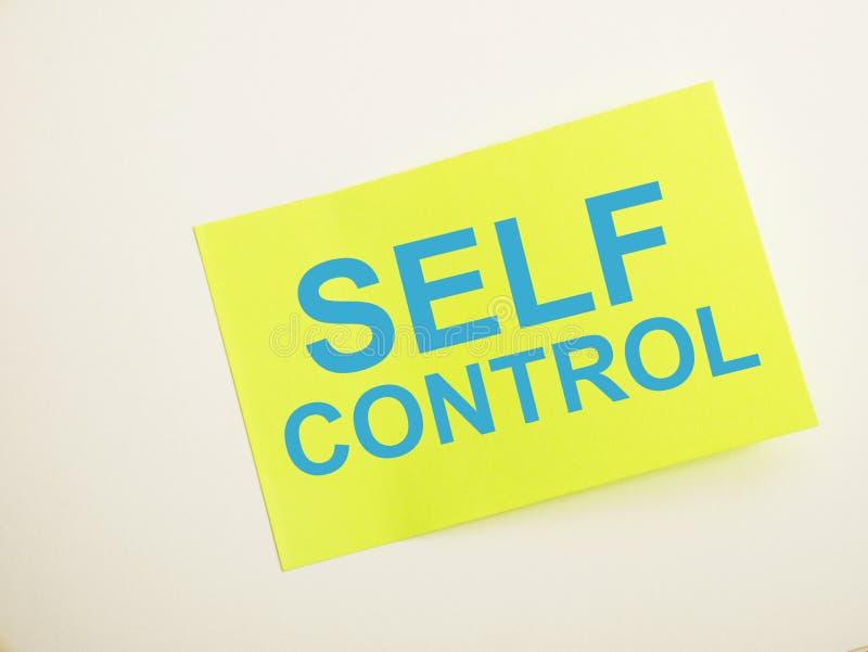 Autocontrollo, concetto motivazionale di citazioni di parole illustrazione vettoriale